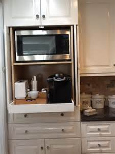 Microwave In Cabinet Microwave And Coffee Station In Cabinet My