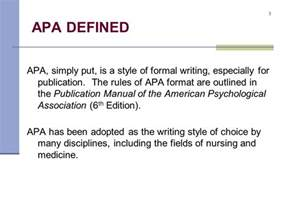 Define Periodical Essay by The Basics Of Apa Format Ppt