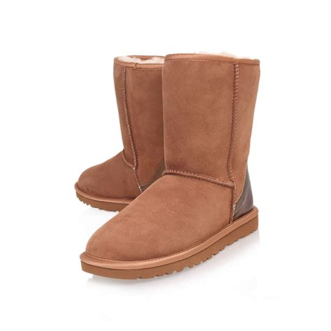 ugg classic boots in brown lyst