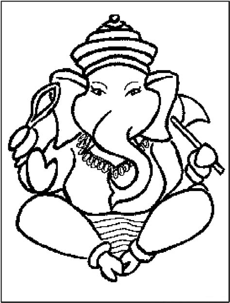 printable ganesh images ganesha coloring pages to download and print for free