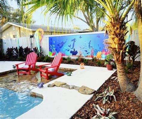 beach themed backyard heavenly beach entry pool ideas beach bliss living