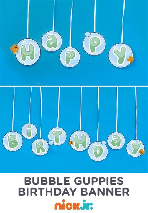 make this bubbly happy birthday bubble guppies banner
