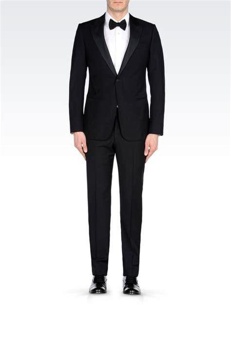 armani collezioni men tuxedo in wool with jacquard details