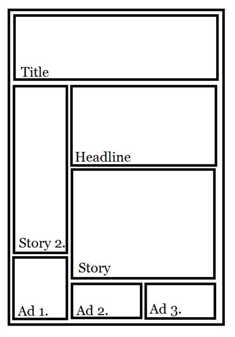 newspaper article layout template layout newspaper article