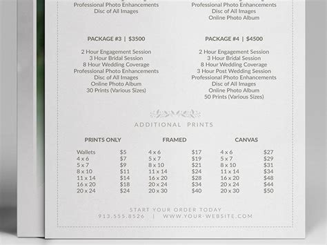 wedding album price list wedding photographer pricing guide price sheet list 5x7