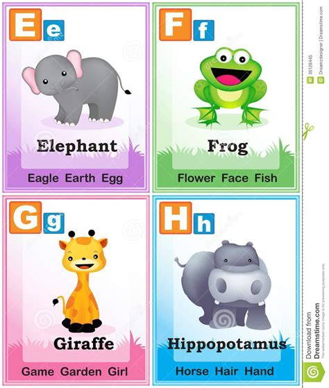 learn the alphabet learn abc with animal pictures teach your child to recognize the letters of the alphabet abcd for books alphabet learning book page 2 royalty free stock photo
