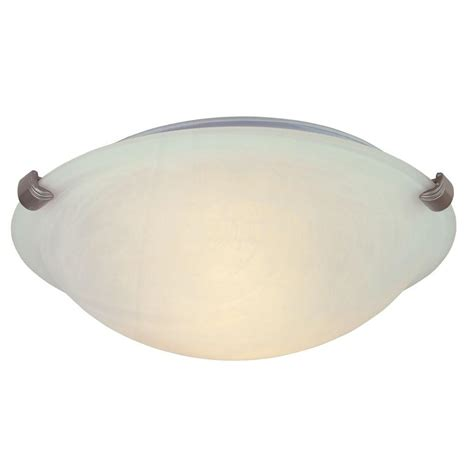 Hton Bay 1 Light White Globe Flushmount With Pull Ceiling Light Covers