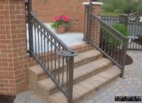 Exterior Banister Wrought Iron Railings Home Depot Interior Exterior