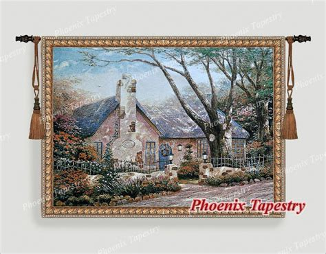 The Tapestry Cottage by Beautiful Cottage Tapestry Wall Hanging Cotton 100 54 Quot X 40 Quot Us Ebay
