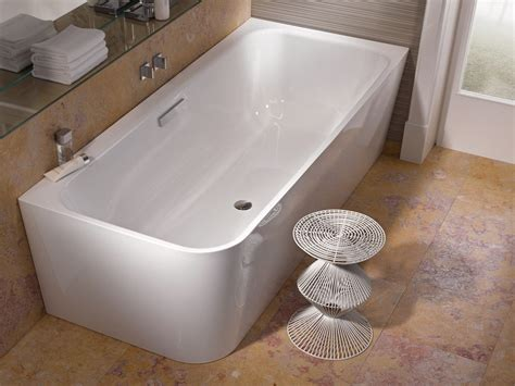 bette bathtubs corner enamelled steel bathtub betteart v by bette design