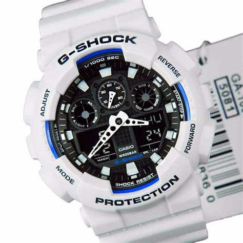 Casio G Shock Ga100 Original casio g shock ga100 b7 branco preto ga 100 100 original