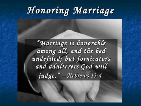 the bed is undefiled honoring marriage