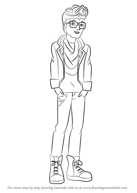 ever after high coloring pages dexter charming learn how to draw dexter charming from ever after high