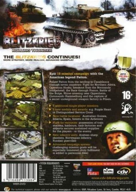 blitzkrieg rolling thunder box for pc gamefaqs