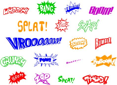 lots of comic books use words to describe what sounds a