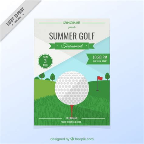 Golf Tournament Flyer Vector Free Download Golf Tournament Flyer Template Free