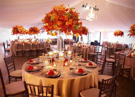 Wedding Flowers And Reception Ideas by Fall Wedding Reception Ideas Trellischicago