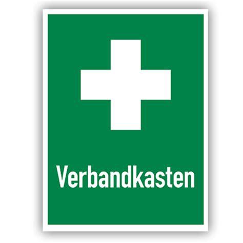 Auto Verbandskasten öffnen by Rettungszeichen Fluchtweg Schilder Hinweis A Verbandskasten