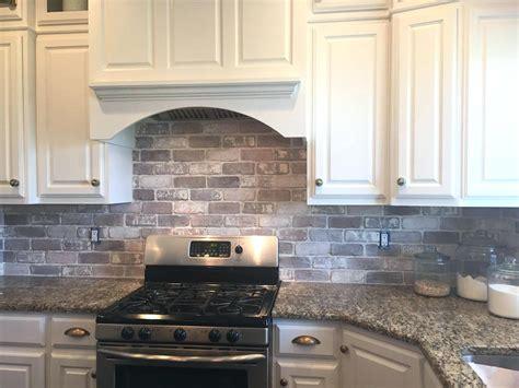 faux brick tile backsplash home designs