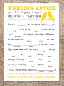 personalized wedding advice mad libs just be loved