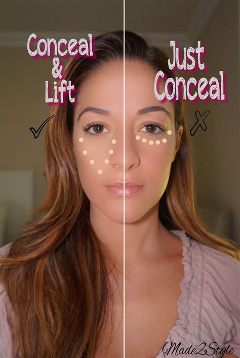 where do you put your makeup on beauty tip tuesday the correct way to apply concealer
