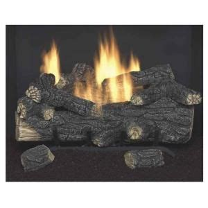 Gas Fireplace Glass Cleaner Home Depot by Oak 18 In Vent Free Gas Fireplace Logs