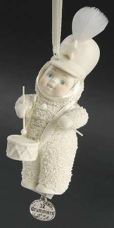 department 56 twelve days of christmas snowbabies at