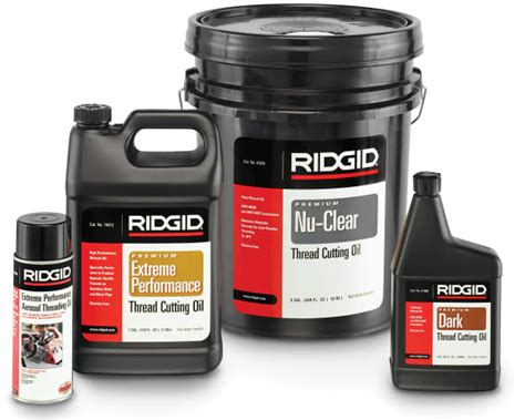 Cutting 55 Galon 41610 ridgid 70830 1 gal thread cutting 70830