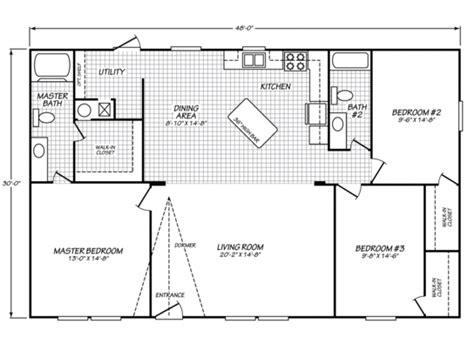 berkshire floor plan fleetwood berkshire 32x48 manufactured wide mobile