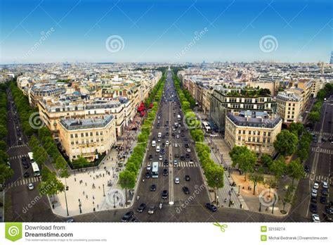 Historic House Plans by Avenue Des Champs Elysees In Paris France Stock Images