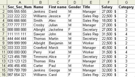 employee names list microsoft excel data lists