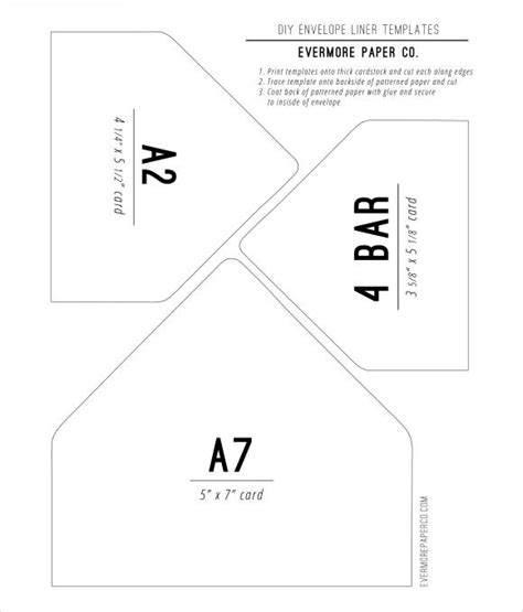 Evelope For 7x10 Card Template by Diy Envelope Liners Template Card Ideas