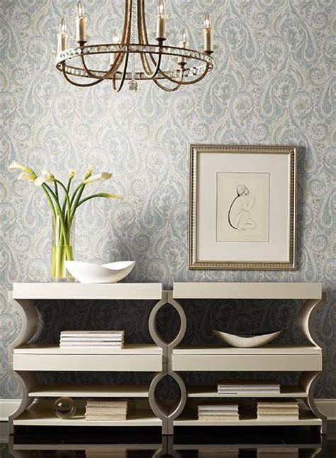 york wallpaper gold lyrical paisley wallpaper in blue and gold design by