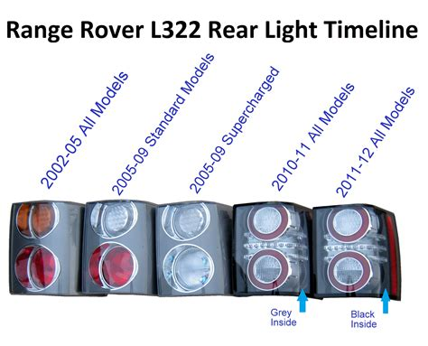 range rover light range rover l322 2012 rear light l tail rh tdv8 led