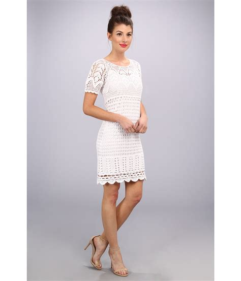 White Flower Crochet Dress white crochet dress dress ty