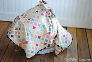 How To Make Car Seat Canopy by Car Seat Canopy Tutorial The Ribbon Retreat Blog