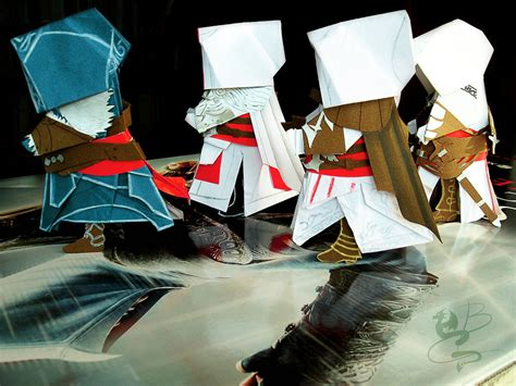 How To Make A Paper Assassin S Creed Blade - assassin s creed origami n 3 by nocturnadraco on deviantart