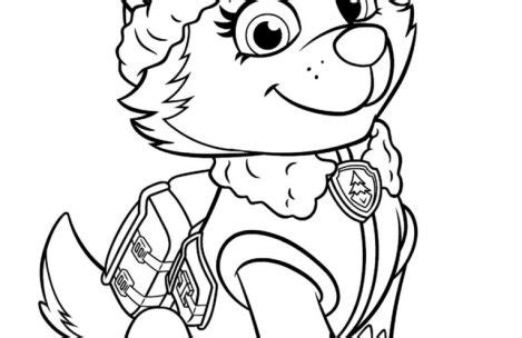 coloring page paw patrol everest paw patrol coloring pages everest just colorings