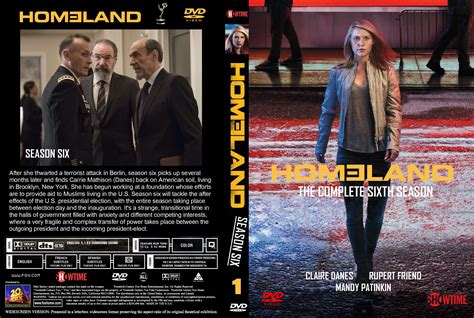Cover Tv By Request 1 homeland season 6 volume 1 dvd cover labels 2017 r0 custom