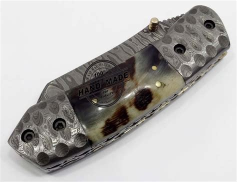 Custom Handmade Folding Knives - custom handmade damascus steel folding knife best