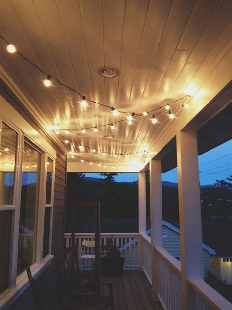 String Lights On Ceiling Porch Lighting And String Lights On Pinterest