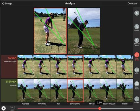 the swing painting analysis golf swing analysis for iphone and ipad golf swing