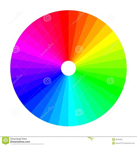 what is in color color wheel with shade of colors color spectrum stock