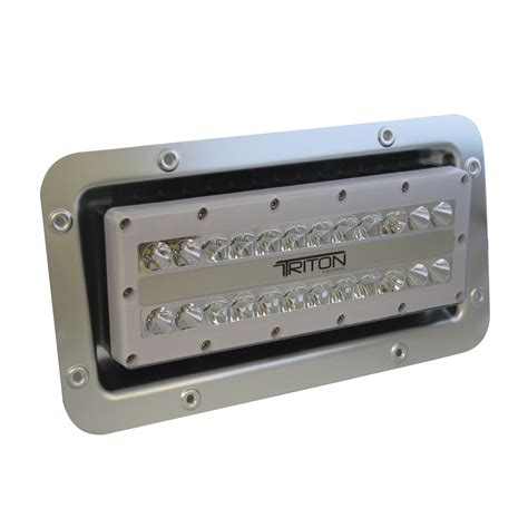 120 volt light lumitec triton led semi recessed ip67 flood light 12