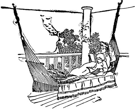 hammock on porch clipart etc