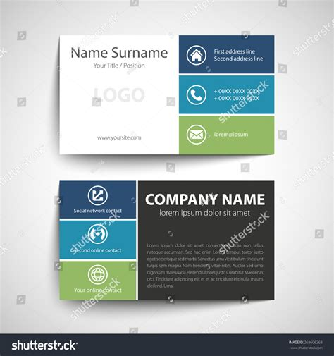 beautiful simple business card inspirational business