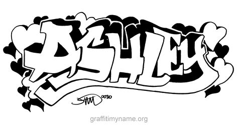 coloring pages of the name ashley ashley graffiti my name