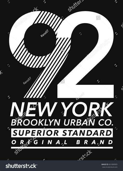 typography uses new york sport wear typography stock vector