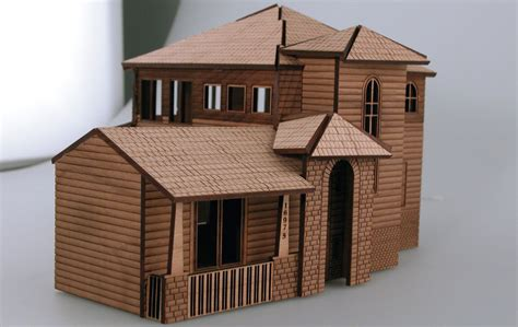building model houses architectural model house laser cutting