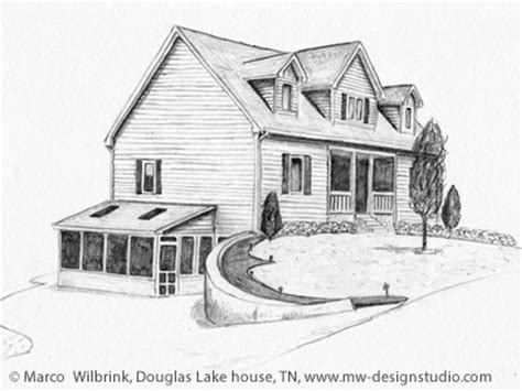douglas lake house pencil drawing by marco wilbrink dribbble